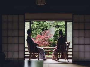 【 お部屋からの風景 】日本庭園側のお部屋からは、四季折々の風景をお愉しみ頂けます。