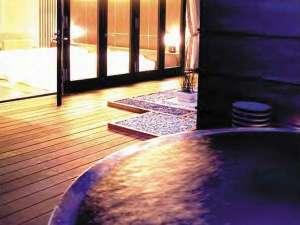 アピカルイン京都:【露天風呂付きツイン】24時間いつでも利用可能!露天風呂で夜空をひとりじめ!