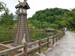 鹿野城のお堀です。