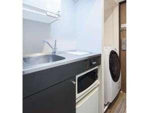 東急ステイ用賀:お部屋に洗濯乾燥機・ミニキッチンが付いています♪(シングルA除く)