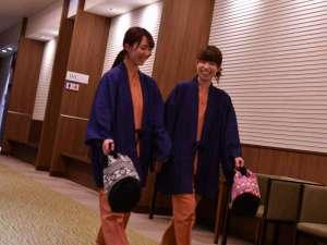 陸前高田 キャピタルホテル1000:●大浴場~ロビー アプローチ/お風呂に行く時も、入った後もこういう時間が楽しい♪