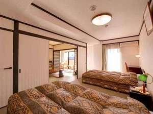 【客室】和室とツインベッドルームからなる和洋室もございます