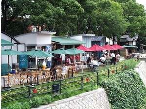 天竜旅館:★京橋川水辺のオープンカフェ★徒歩約5分