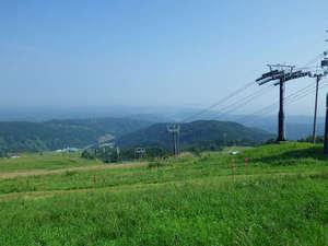 *牛岳スキー場からの眺め(牛岳スノーパーク車で3分)
