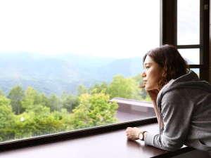客室窓からの風景(夏)