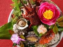 地魚・鮑・伊勢海老、新鮮な海の幸がボリューム満点!『部屋食:大漁』プランのイメージ画像
