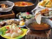 【季節限定】春は絶品!桜鯛のしゃぶしゃぶ鍋が人気!揚げたて天ぷらや焼きたて旬魚もついてこのお値段♪