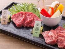 [夏ブランド牛食べ比べ]2種類の憧れブランド牛をステーキで◆但馬牛と京都牛の食べ比べ会席[ZF007HC]