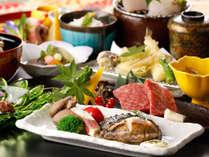 料理長厳選◎山海の幸饗宴<新鮮地魚姿盛り&伊勢エビ+アワビ+神戸牛>【プレミアム会席】を満喫♪