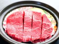 【会場食】★お得に贅沢★鳳来牛もも肉(しんたま)の陶板焼!!貴重なお肉を堪能♪【1泊2食付】のイメージ画像