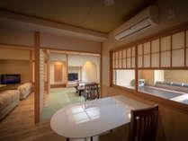 あかしや館和洋室 露天風呂・快適ベットとマッサージチェア付き客室