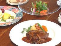 【じゃらん限定☆春のご旅行に】葉山牛ハンバーグディナーとワンドリンク&カフェでスイーツセット