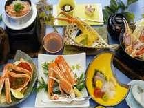 【冬の特別会席】◆豪華蟹づくし◆焼き蟹×カニ鍋×かに釜飯プラン