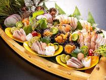 【日本海の幸】旬の魚介新鮮7種盛!地魚会席(全11品)のイメージ画像