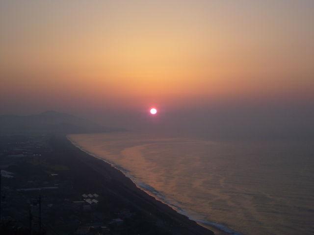 日の出を見ることができました_伊良湖岬