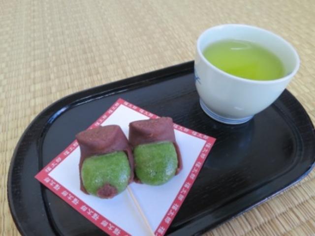 福太郎、モチモチしていて蓬の香も良く美味しかったですよ~。_三嶋大社