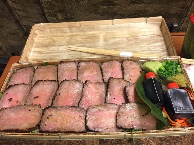 帰りの夕食として豊後牛重を予約注文しました! 通常の1.5~2倍の量なので食べ応え十分!_由布まぶし 心