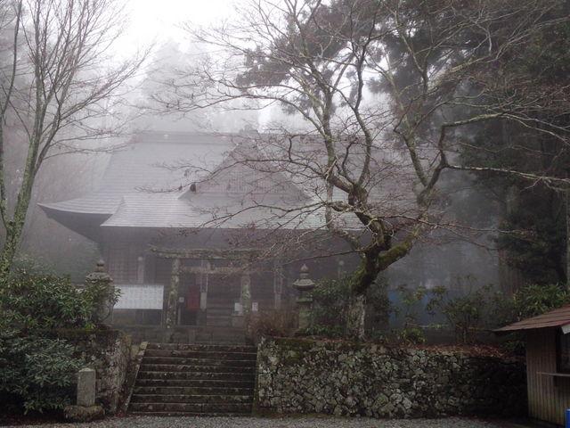 霧が出てきて、さらに神秘的。_西照神社