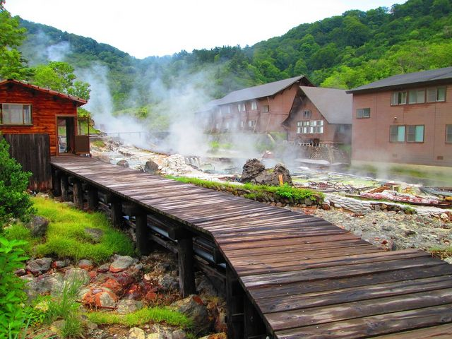 宿泊施設周辺からの風景_玉川温泉