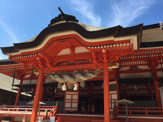 青い空がよくお似合いになる_日御碕神社