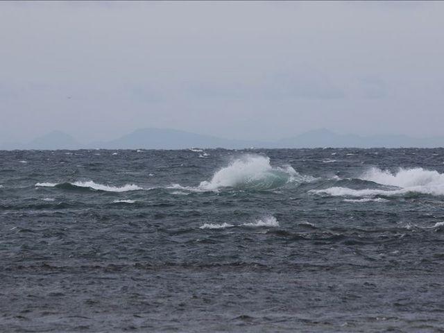 宗谷岬から見えた遠方のサハリン_宗谷岬