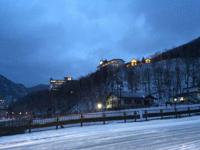 雪景色_層雲峡温泉