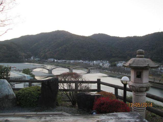 岩国国際ホテルより、錦帯橋の眺め。_岩国国際観光ホテル