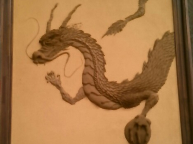 龍の鏝絵。_東京国際フォーラム