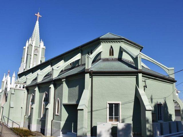 後方からの撮影です_平戸ザビエル記念教会