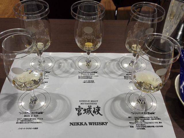 有料見学でのテイスティング。アルコール度数高め_ニッカウヰスキー仙台工場 宮城峡蒸溜所