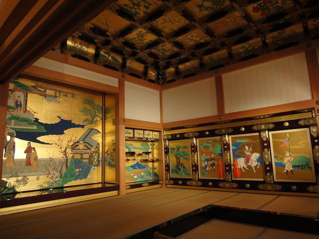 復元された広間。_熊本城本丸御殿
