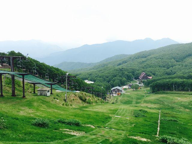 蔵王のロープウェイ山頂駅から。_山形蔵王温泉スキー場