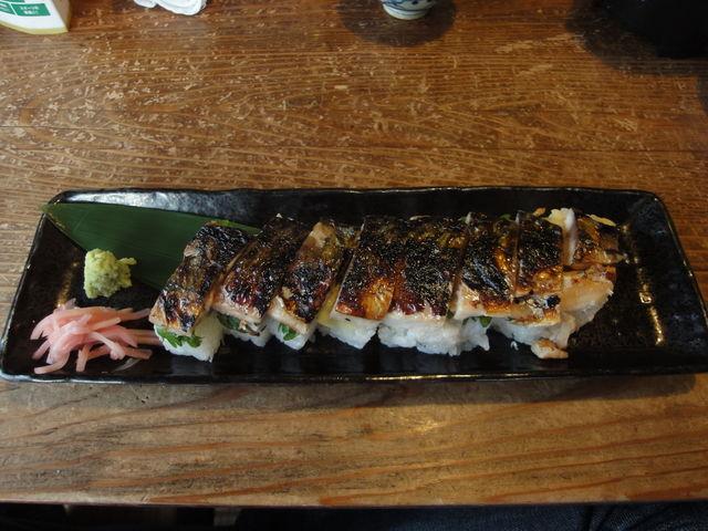 焼き鯖のお寿司。_翼果楼