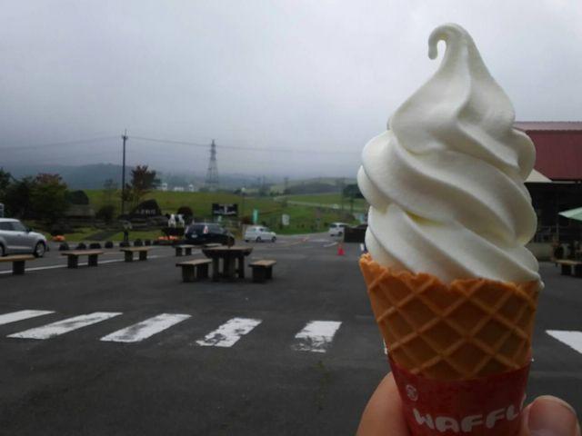 濃厚なソフトクリーム_大笹牧場 レストハウス