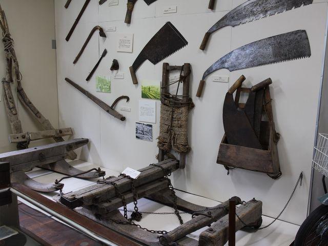 昔の農機具_網走市立郷土博物館
