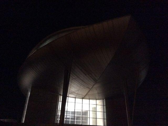 夜間の外観です。_渋川天然温泉 花湯スカイテルメリゾート