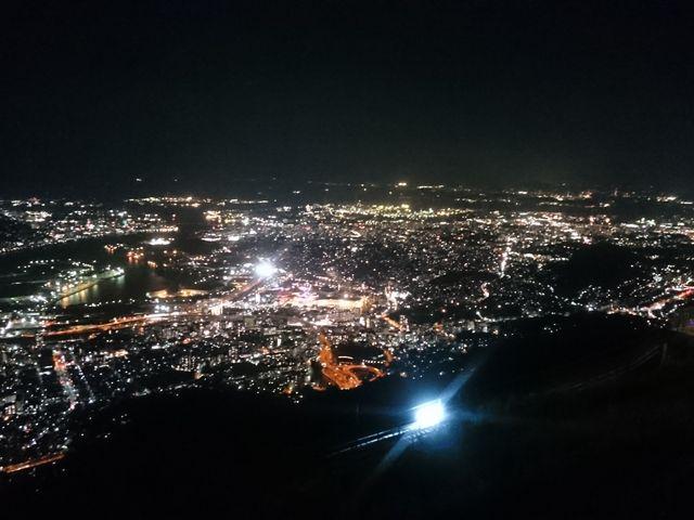 頂上からの夜景_皿倉山