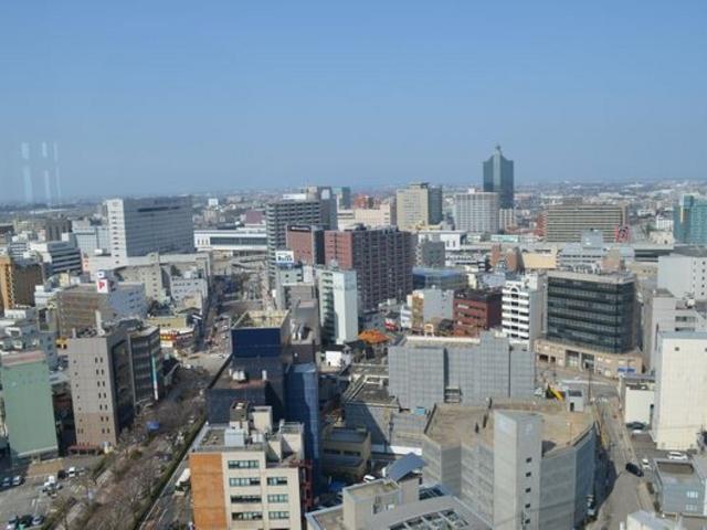 市内が一望できます。_富山市役所展望塔