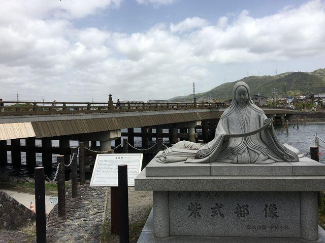 宇治橋。紫式部像_宇治の文化的景観