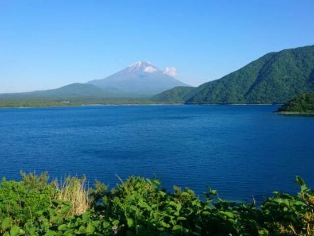 千円札の富士山_本栖湖