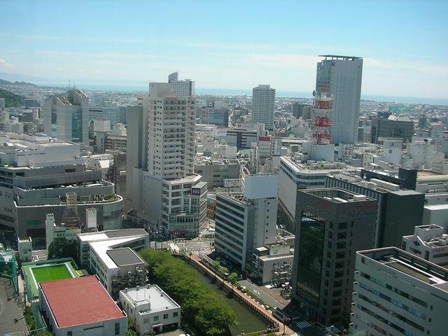 展望からの眺め_静岡県庁別館21階富士山展望ロビー