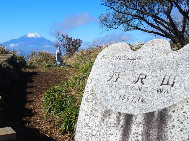 頂上の石碑_丹沢山