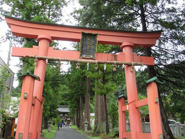 参道入り口の鳥居_須波阿須疑神社