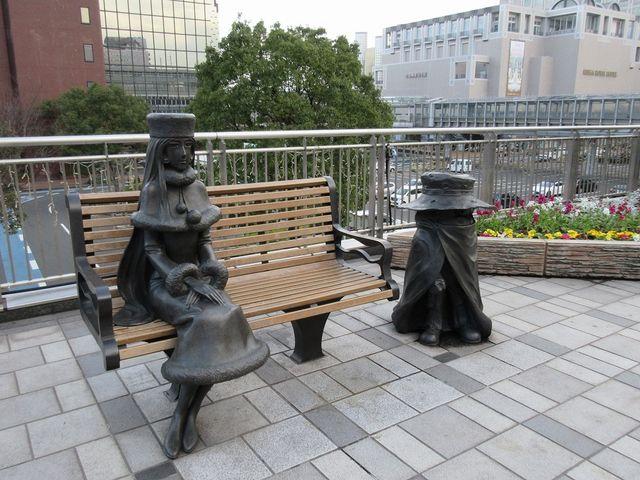 メーテルと哲郎。_JR小倉駅
