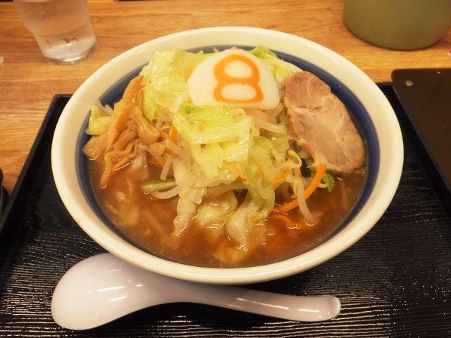 野菜らーめん(味噌)麺半分+野菜増量_8番らーめん 小松店