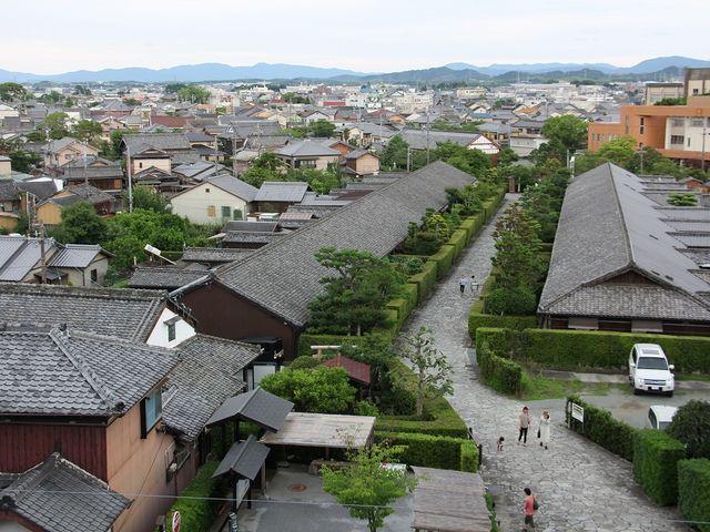 御城番屋敷の眺め。_松坂城跡(松阪公園)