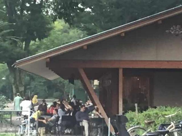 テラス席です。_スターバックス コーヒー 上野恩賜公園店