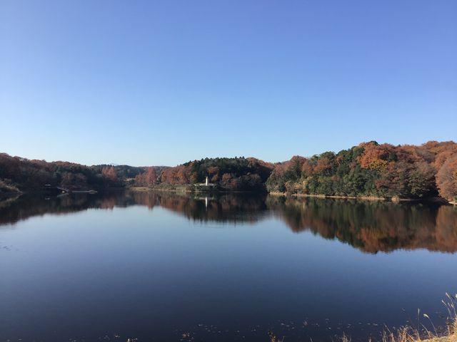 宮沢湖の堰堤から_ムーミンバレーパーク