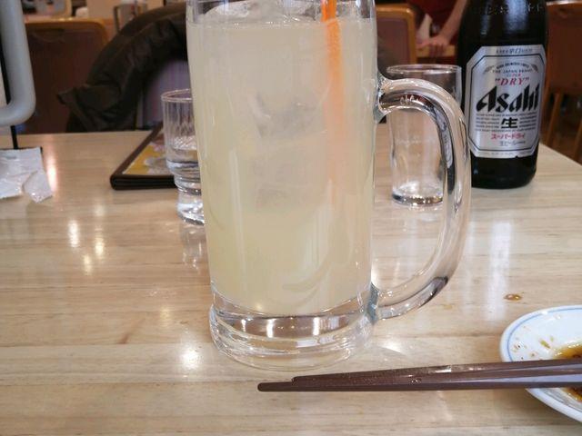 ビールのあとはレモンサワー_老神温泉ぎょうざの満州東明館