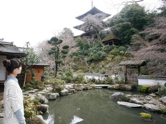 大和三名園の一「香藕園」_當麻寺 中之坊